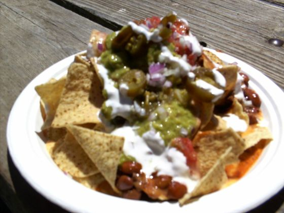 Nachos from a street stall in San Francisco
