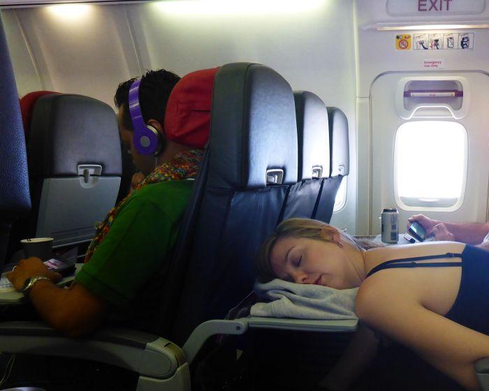 plane asleep