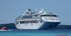 Sun Princess at Lifou - see facebook.com/cairnscommunications for details