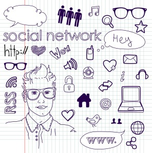 social-media-network-connection-doodles