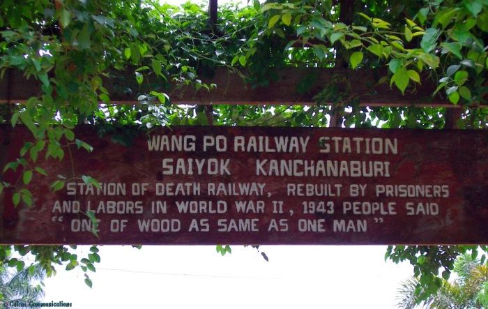 Wang Po railway station, Burma Railway