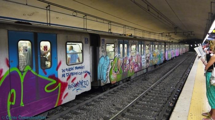 Rome Metro graffiti