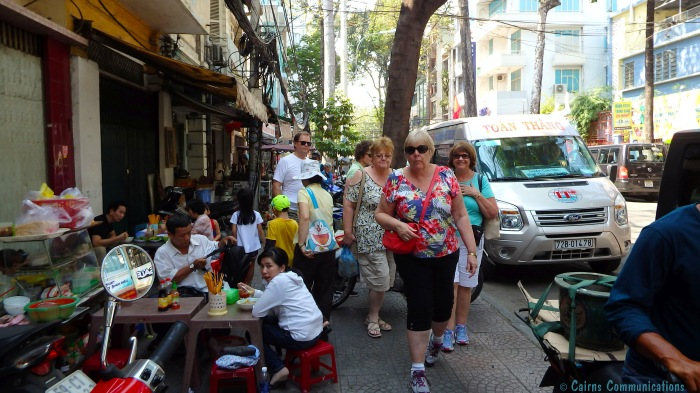 Ho Chi Mihn City sidewalk