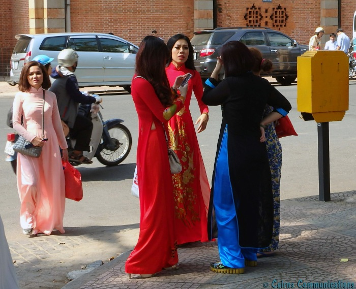 Ao Dai women in Ho Chi Minh city