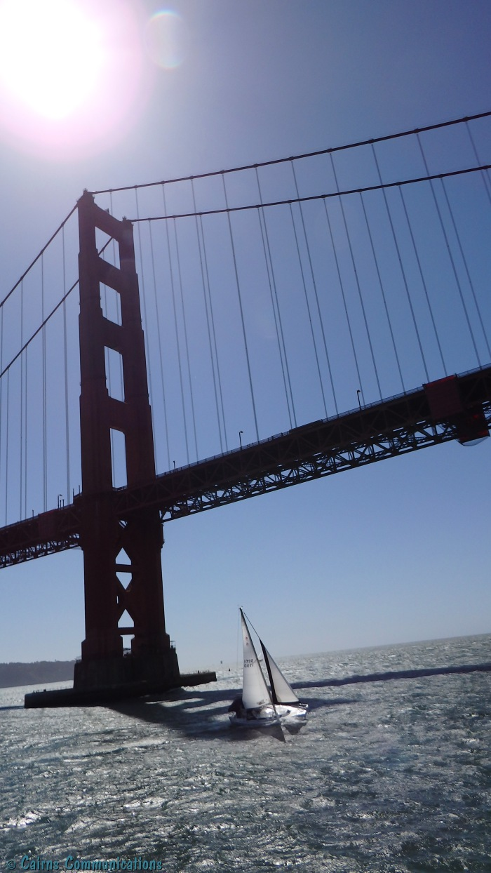 Golden Gate Bridge and Sailboat