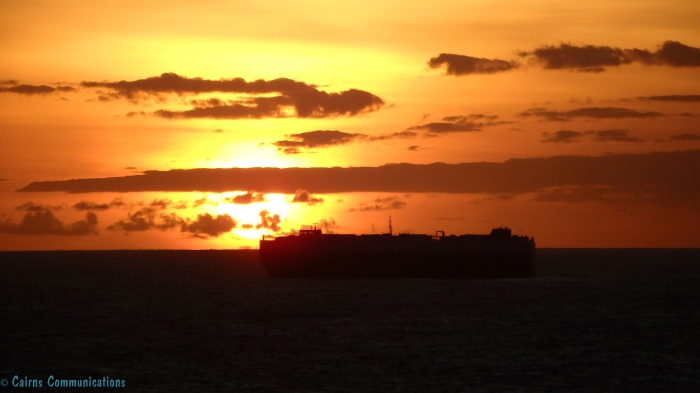 Container Ship Sunset