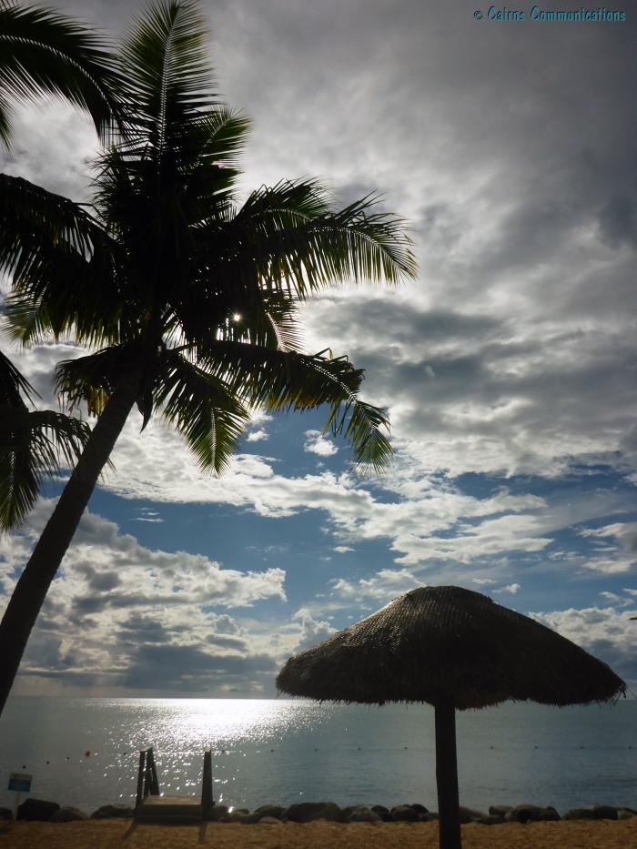 Fiji sun on the water
