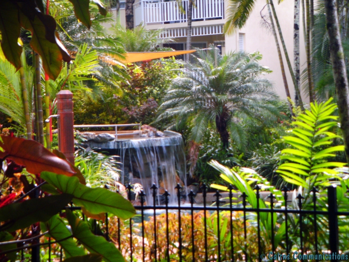 Worldmark Cairns pool waterfall