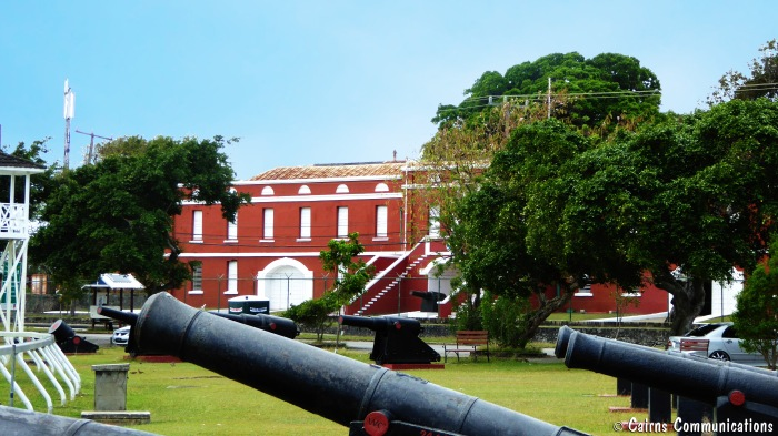 Barbados cannons in garrison precinct