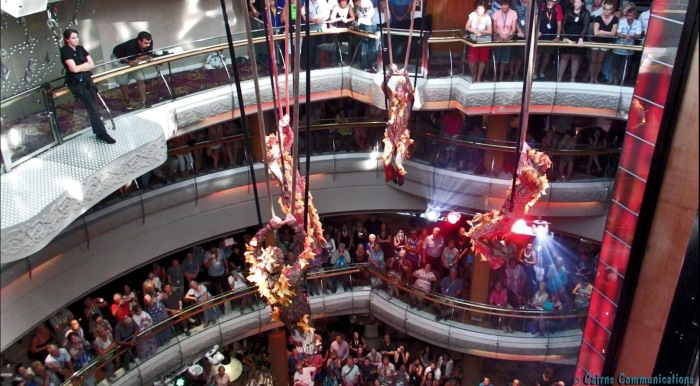 Aerial performers, Legend of the Seas
