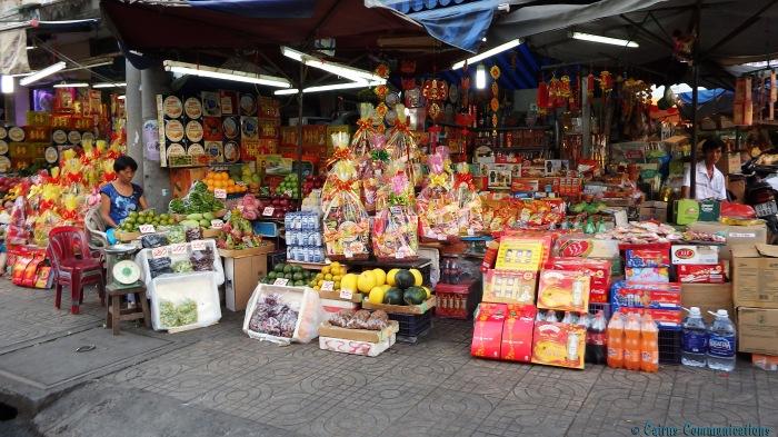 Ho Chi Minh City market stall