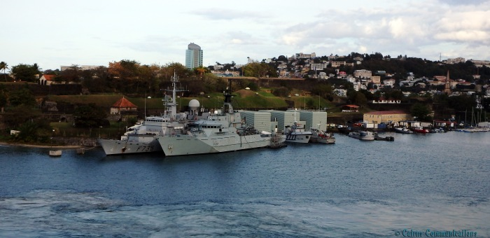 Naval ships in Martinique