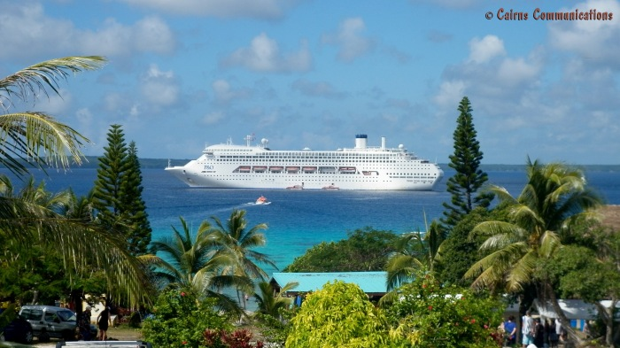 Pacific Dawn anchored at Lifou, New Caledonia