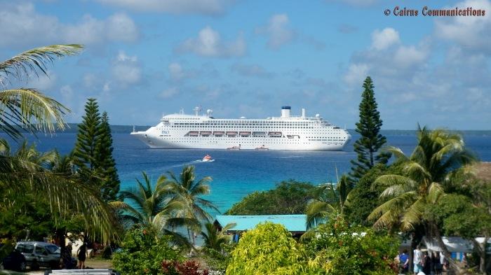 Pacific Dawn anchored at Lifou, New Caledonia