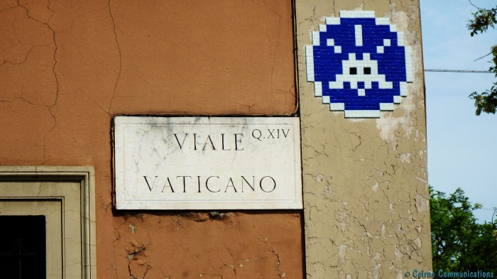 Vatican Space Invader